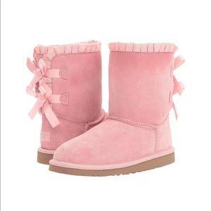UGG Bailey Bow Ruffles Baby Pink